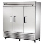 True TS-72F-HC - Freezer, three-section, -10°F, (3) solid doors, stainless steel front/sides