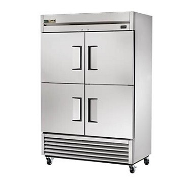 True T-49-4-HC - Refrigerator, two-section, (4) solid half doors, stainless steel front