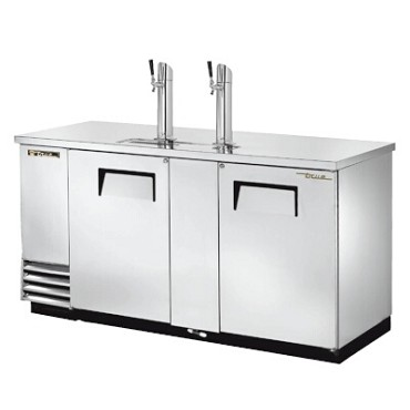 True TDD-3-S-HC - Draft Beer Cooler, (3) 1/2 keg, (2) solid doors, (2) columns with (1) faucet, stainless steel exterior