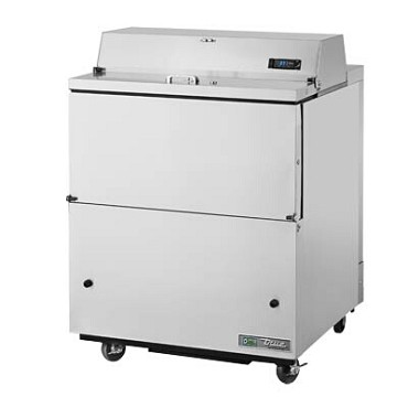 True TMC-34-S-HC - Mobile Milk Cooler, (8) crate, stainless steel flip-up lid, stainless exterior