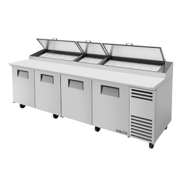 True TPP-AT-119-HC - Pizza Prep Table, 33 - 41°F, (4) full doors, stainless steel front