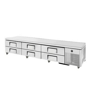 True TRCB-110 - Chef Base, (6) drawers, stainless steel front/sides