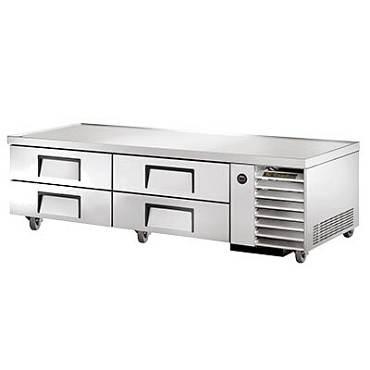 True TRCB-79 - Chef Base, (4) drawers, stainless steel front/sides