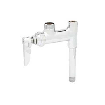 "T&S Brass B-0155-01LN - Add-on Faucet, less nozzle, with 3"" nipple for pre-rin"