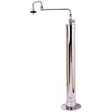 "T&S Brass B-0185 - Kettle Filler Stanchion, 4"" diameter stanchion with floor mounti"