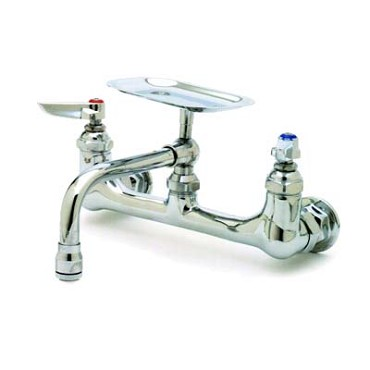 "T&S Brass B-0233-01 - Sink Mixing Faucet, wall mounted, w/160X 6"" soap dish nozzle wit"