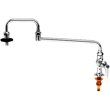 "T&S Brass B-0590 - Pot Filler Faucet, deck-mounted, double-joint nozzle, 18"" long,"