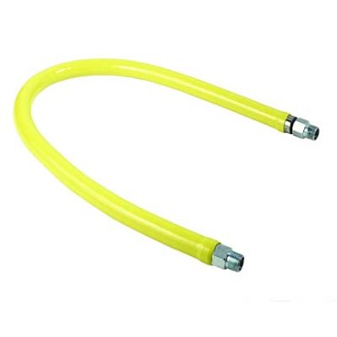 T&S Brass HG-2C-36 - 36 in. Safe-T-Link Gas Connector Hose, 1/2 in. Male x Male Connection