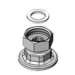 T&S Brass 00AA - Union Coupling Inlets, female flanged 1/2
