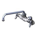 T&S Brass B-0236 - Sink Mixing Faucet, wall mounted, adjustable inlet arms - 1/2