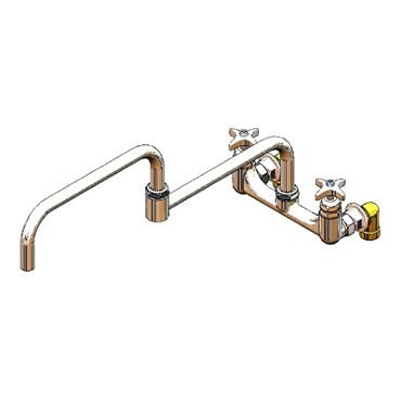 "T&S Brass B-0292 - Kettle & Pot Sink Faucet, Big-Flo, wall mounted 8"" centers, 3/4"""