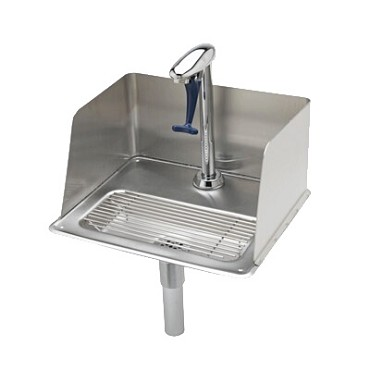"T&S Brass B-1235 - Water Station with Splash Guard, Drop-In, 10-1/2"" 18 ga.. s/s dr"