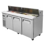 Turbo Air JST-72 - Sandwich/Salad Unit, 3 Section 18 Cu. Ft.