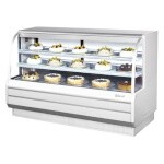Turbo Air TCGB-72-W(B)-N - Bakery Case, refrigerated, 72-1/2