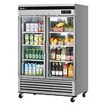 Turbo Air TSR-49GSD-N - New Maximum Glass Door Refrigerator, two-section,
