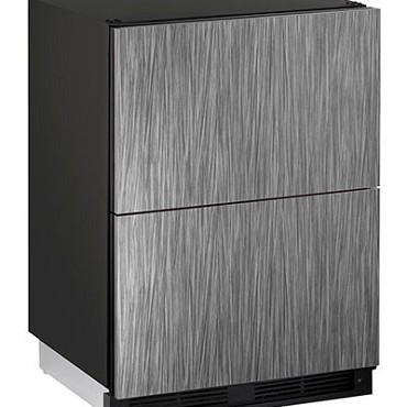 Uline U-1224DWRINT-00A - Two-Drawer Refrigerator, 24 inch, Integrated