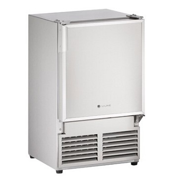 "U-Line ULN-SS1095NF-03A - Marine Ice Maker With Bin, crescent-style, 14""W, stainless steel"