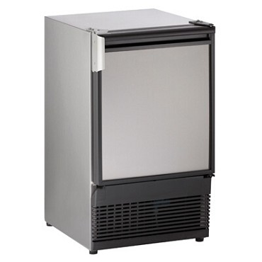 "U-Line ULN-SS98NF-20A - Marine Ice Maker With Bin, crescent-style, 15""W, stainless steel"