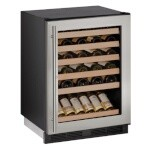 Uline U-1224WCS-13A - Wine Refrigerator, 24 inch, Locking Glass Door