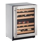 Uline U-2224ZWCS-13A - Wine Refrigerator, 24 inch, Locking Door
