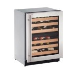 Uline U-2224ZWCS-15A - Wine Refrigerator, 24 inch, Locking Door