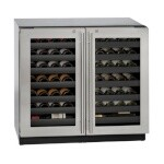 Uline U-3036WCWCS-13A - Wine Refrigerator, 36 inch, Locking Double Door