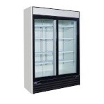 Valpro VP2R-48L-HC - Refrigerated Merchandiser, two-section, 48 cu. ft., (2) glass sliding doors