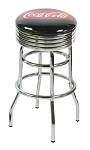 Vitro Seating 215-782 FT - Coca-Cola Brand chrome fishtail stool with chrome base and seat