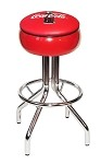 Vitro Seating 250-781 CBB - Coca-Cola Brand diner stool with chrome base and red