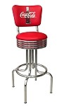 Vitro Seating 264-782 RB CBB - Coca-Cola Brand bull's eye stool with back