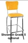 Vitro Seating 921 BS - Classic Stool, curved back, chrome finish.1