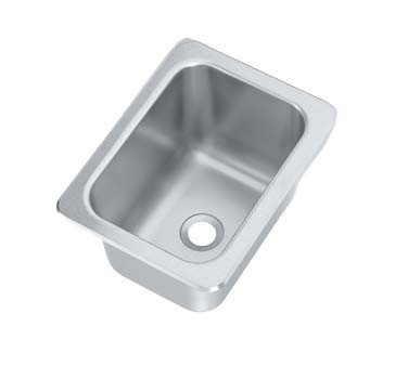 Vollrath 101-1-2 - Drop-In Stainless Steel Sink w/Single Bowl, 14 x 10 x 10 in.