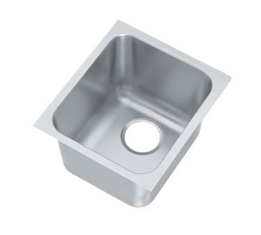 Vollrath 12101-1 - Undermount Weld-In Sink w/Single Bowl, 14 x 12 x 9-3/4 in.