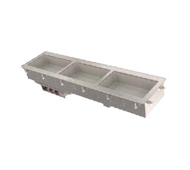 Vollrath 3664320 - Top Mounted 3 Well Short Sided Hot Drop-In w/Infinite Controls & Full Perimeter Drip Edge