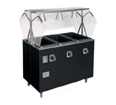 Vollrath T Portable Three Well Deluxe Hot Food Steam Table - Three well steam table