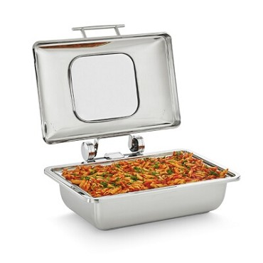 Vollrath 4644010 - Mirage Induction Chafer, 8.3 quart, (1) food pan & glass cover