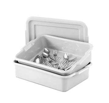 "Vollrath 52617 - Perforated Drain Box, gray, Plastic, 20"" x 15"" x 5"", (Case of 6)"