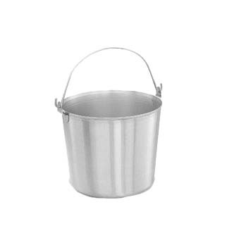 "Vollrath 59150 - Pail, 16 quart, Utility, stainless, 11 7/8"" top dia., 9 3/4"" height, (Case of 3)"