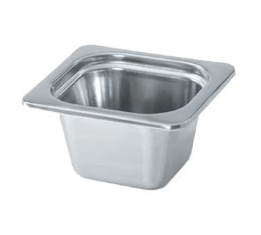 Vollrath 8266220 - Decorative 1/6 Size Rectangular Steam Table Pan, 1.79 qt.