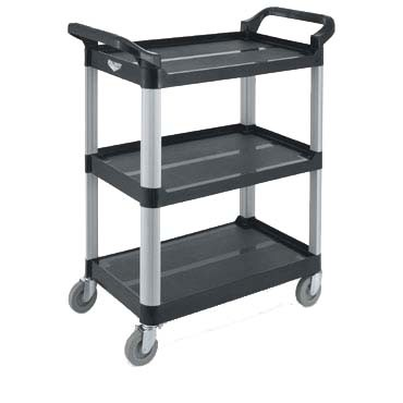 Vollrath 97006 - Black Multi-Purpose Utility Cart, 33 x 17 x 37 in.
