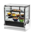 Vollrath 40866 - Cubed Glass Countertop Heated Display Cabinet w/3 Shelves, 48 in.
