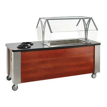 "Vollrath 75731 - Soup & Salad Cart, 84""W x 34""D x 58""H, (1) cold dropin, (2) dropin warmers"