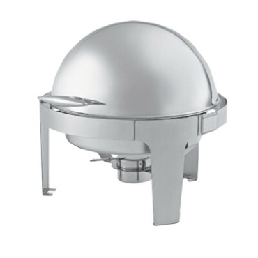 Vollrath T3505 - 8 qt. Round Chafer w/Roll Top