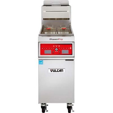 "Vulcan 1TR85C - PowerFry3 Fryer, gas, high eff, 21"" W, 90 lb. cap, program computer"