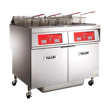 "Vulcan 2ER50CF - Fryer, electric, 31"" W, (2) battery, 50 lb. capacity per vat, programmable computer"
