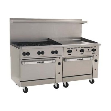 Vulcan 72SC-6B36GT - Endurance 72 in. Range w/6 Burners & Both Standard and Convection Ovens