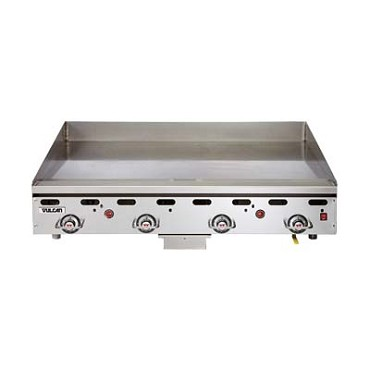 "Vulcan 960RX - Heavy Duty Griddle, Countertop, Gas, low profile, 1"" thick polis"