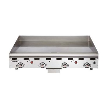 "Vulcan MSA60 - Heavy Duty Gas Griddle, 135,000 BTU, 60""W x 24""D x 1"" thick poli"