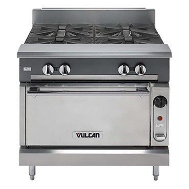 Vulcan VWT36B - V Series Heavy Duty Work Top Gas Range w/Storage Base, 36 in.