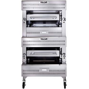Vulcan VBI2 - V Series Deck-Broiler, Heavy Duty range, Gas, double deck, ceramic over infrared